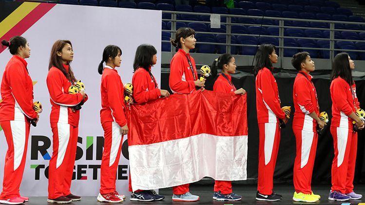 Tim bulutangkis putri Indonesia di SEA Games 2017. Copyright: © Humas Pelatnas PBSI