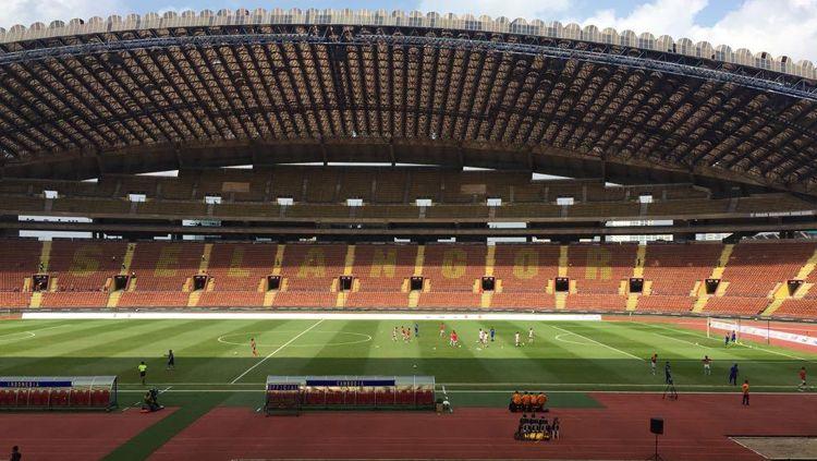 Suasana di dalam Stadion Shah Alam, Selangor, Malaysia. Copyright: © RadoElshinta