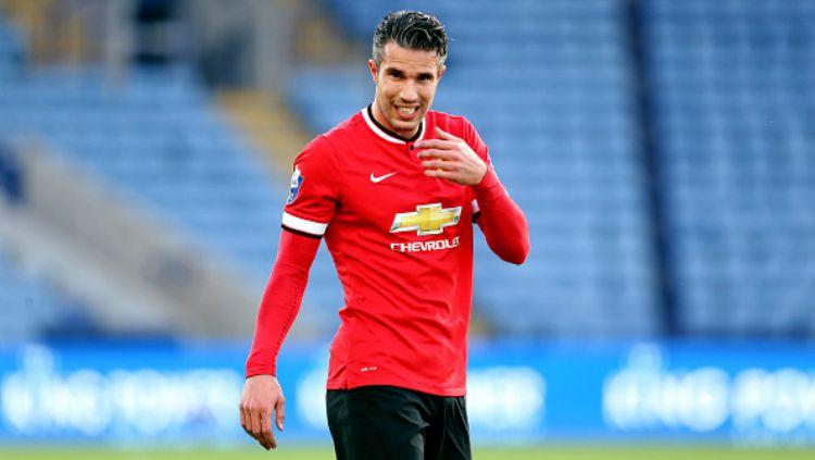 Robin van Persie saat membela Manchester United. Copyright: © Getty Images