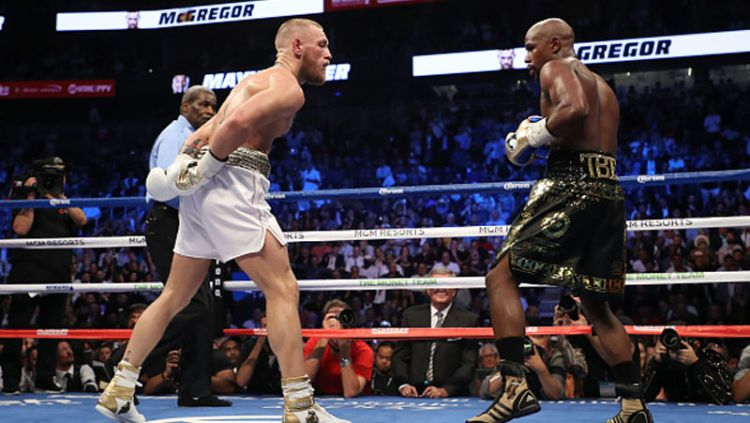 Floyd Mayweather Jr vs Conor McGregor. Copyright: © Getty Images