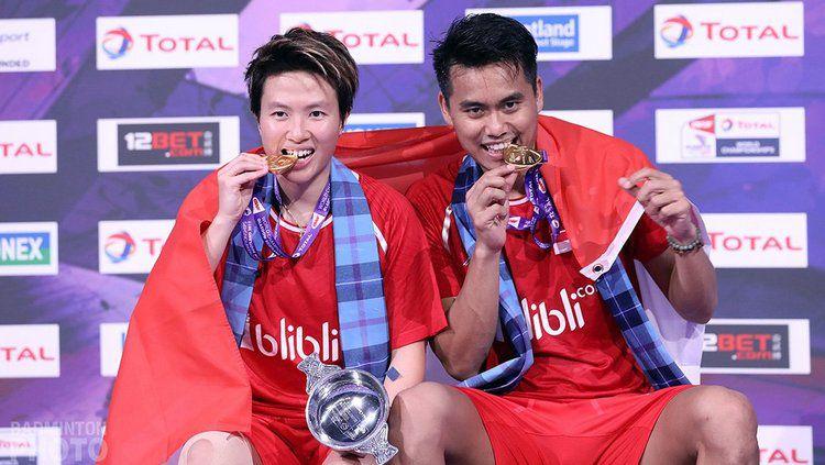 Tontowi/Liliyana berhasil menjuarai Kejuaraan Dunia Bulutangkis 2017. Copyright: © Badminton Photo