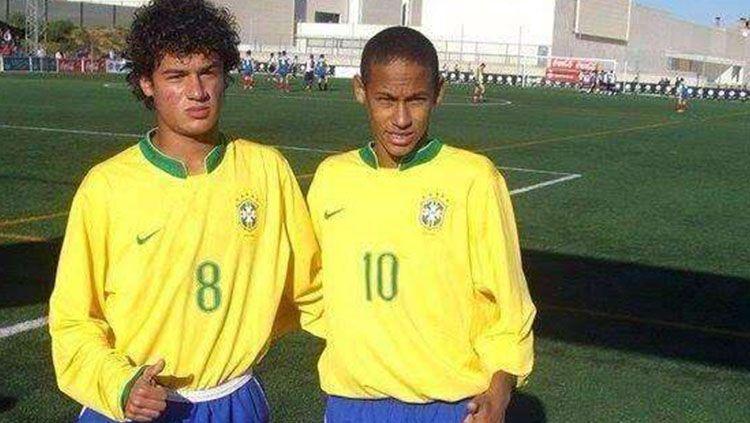 Neymar dan Coutinho pertama kali bermain bersama di timnas Brasil U-16 Copyright: © www.goal.com