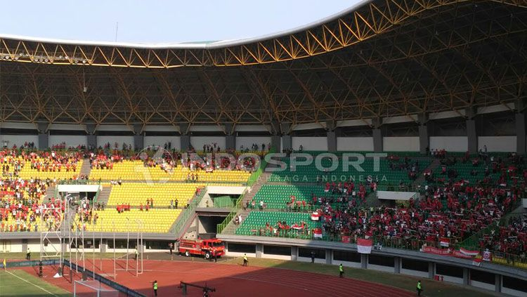 Stadion Patriot Chandrabhaga, yang rencananya akan menjadi venue laga pekan keenam Shopee Liga 1 2019 antara Bhayangkara FC vs Persib Bandung. Copyright: © INDOSPORT/Petrus Manus Da Yerimon