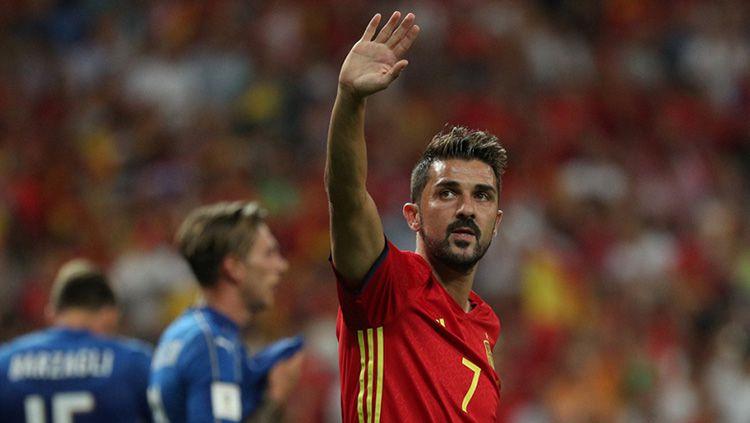 David Villa saat memperkuat Timnas Spanyol. Copyright: © getty images