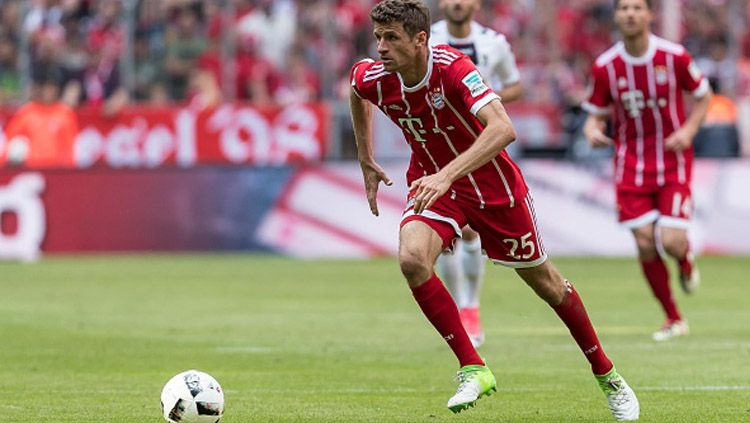 Thomas Muller, striker Bayern Munchen. Copyright: © INDOSPORT