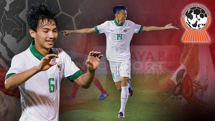 Muhammad Iqbal dan Feby Eka Putra di Piala AFF U-18 2017. Copyright: © Grafis:Yanto/Indosport.com