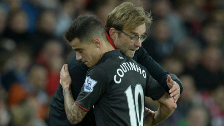 Pelatih Liverpool, Jurgen Klopp, menyebut mantan anak asuhnya, Philippe Coutinho, sebagai jelmaan legenda Juventus, Alessandro Del Piero. Copyright: © getty images