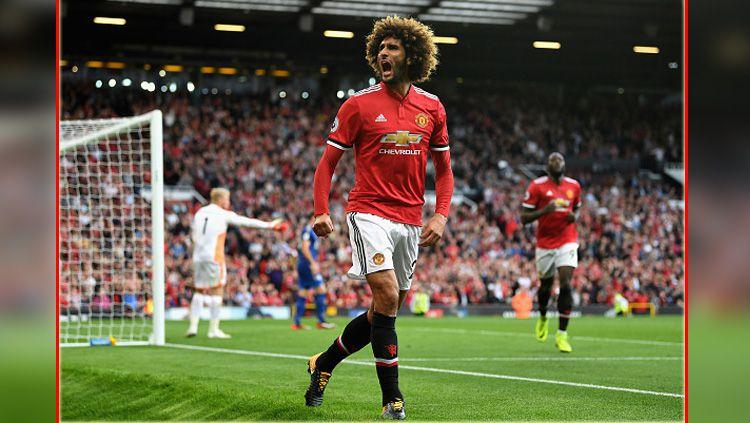 Marouane Fellaini disebut Jose Mourinho sebagai pemain paling penting untuk Manchester United. Copyright: © getty images