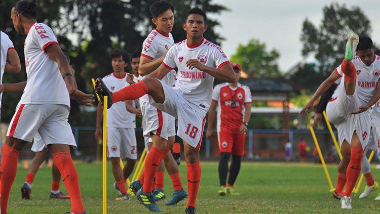 Suasana latihan pemain Persija Jakarta di Bali. Copyright: © Media Persija