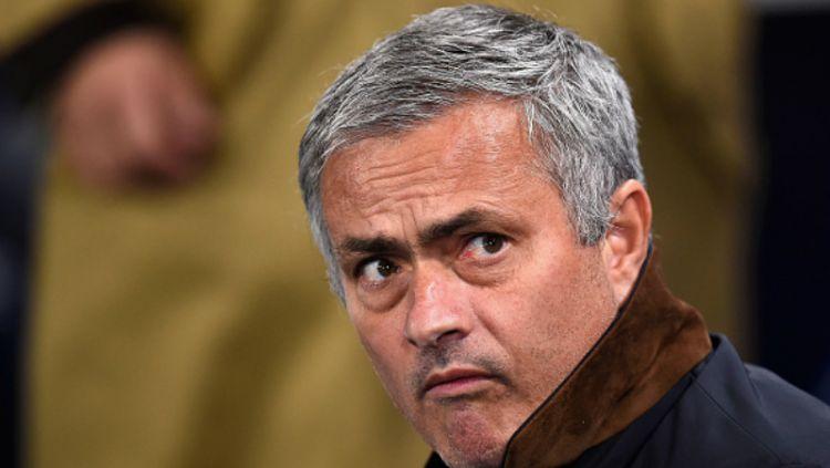 Jose Mourinho, pelatih Manchester United. Copyright: © INDOSPORT