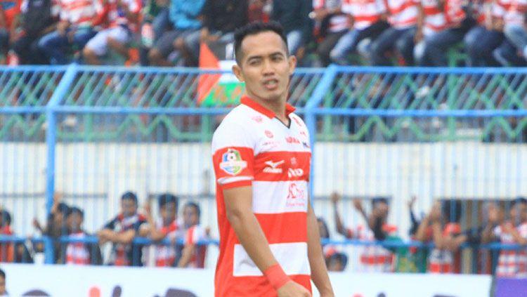 Pemain Madura United, Slamet Nurcahyo. Copyright: © Ian Setiawan/INDOSPORT