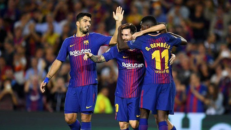 Barcelona berhasil meraih kemenangan 3-0 atas Juventus. Copyright: © Twitter @sportingawayday