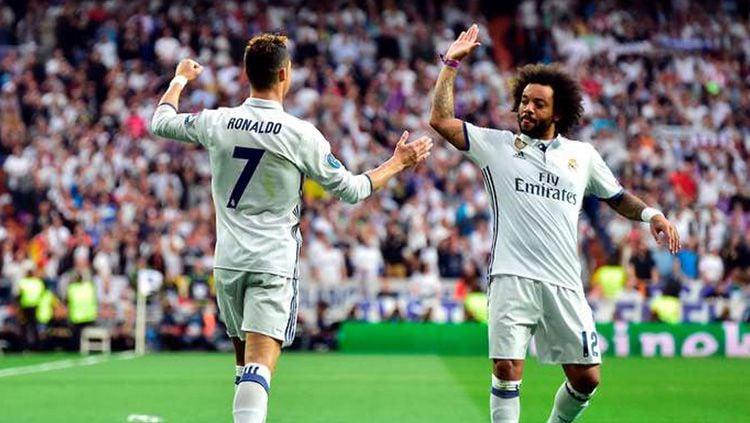 Marcelo anggap Cristiano Ronaldo sebagai rekan tim paling sempurna. Copyright: © GMS
