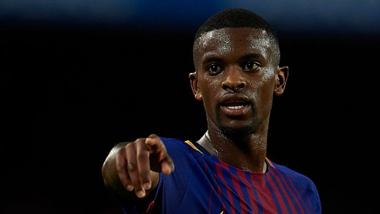 Klub Liga Inggris, Manchester City, memasang harga untuk Nelson Semedo yang bakal hengkang dari Barcelona. Copyright: © getty images