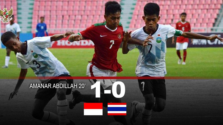 Babak pertama Indonesia vs Thailand. Copyright: © INDOSPORT