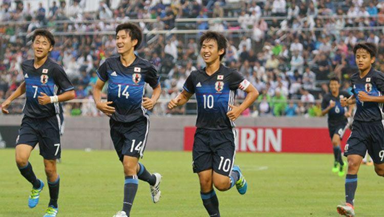Selebrasi pemain Timnas Jepang U-16 Copyright: © JFA