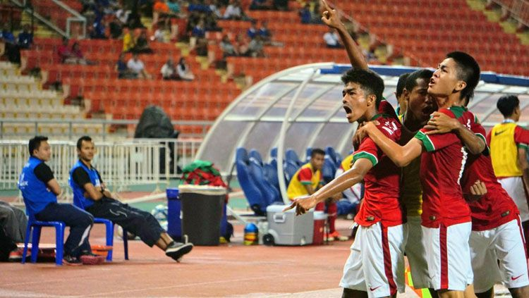Timnas Indonesia U-16 vs Timnas Thailand U-16. Copyright: © PSSI
