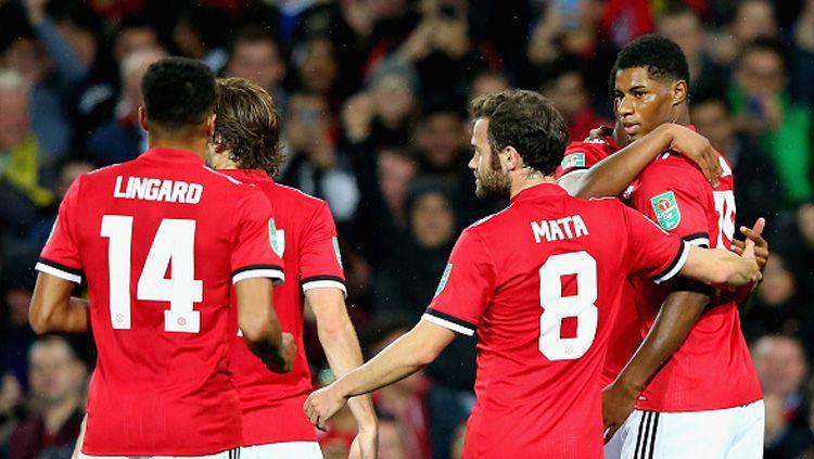 Selebrasi pemain Manchester United. Copyright: © getty images