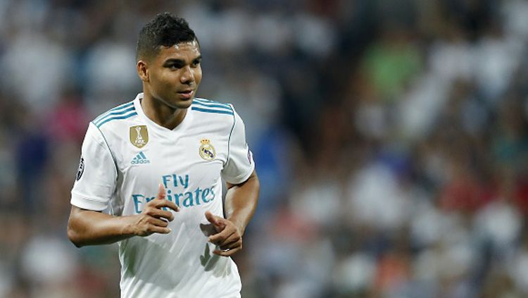Casemiro, gelandang bertahan Real Madrid. Copyright: © getty images