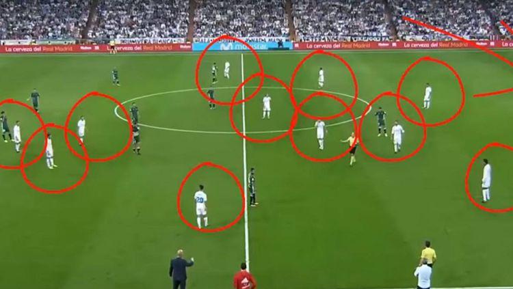 Situasi pertandingan Real Madrid melawan Real Betis. Copyright: © as.com