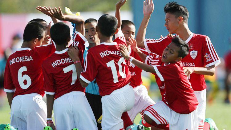 Sepakbola Indonesia Danone Nations Cup lolos ke babak perempat final Piala Dunia U-12. Copyright: © Danone Nations Cup