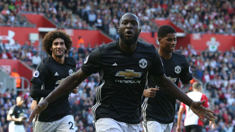 Romelu Lukaku, striker Man United. Copyright: © INDOSPORT