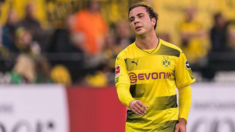 Mario Gotze, playmaker Borussia Dortmund, menjadi incara Inter Milan. Copyright: © getty images