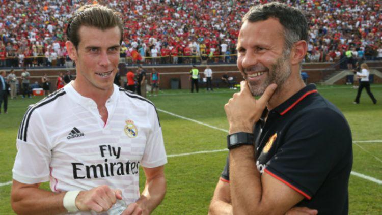 Gareth Bale dan Ryan Giggs. Copyright: © INDOSPORT
