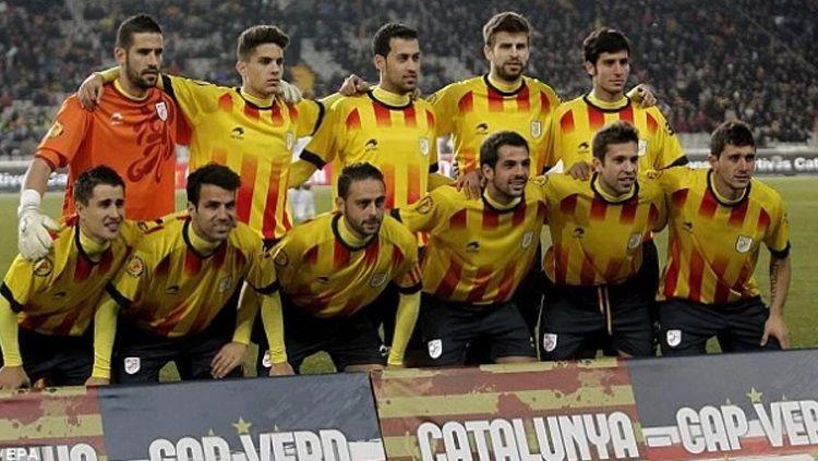 Para pemain Timnas Catalunya. Copyright: © Internet