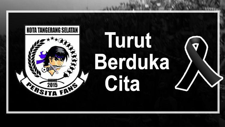 Viola Tangsel berduka karena meninggalnya suporter Persita Tangerang. Copyright: © Istmewa