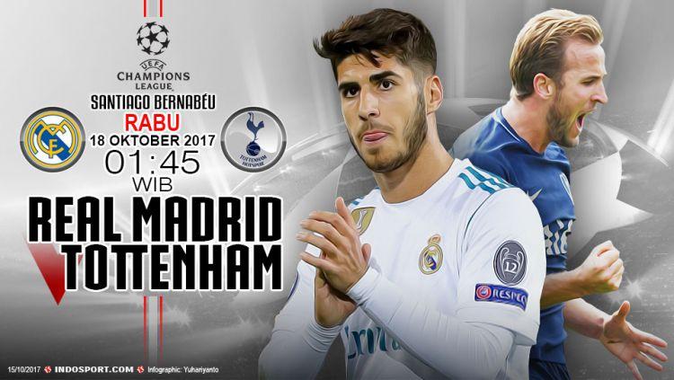 Prediksi Real madrid vs Tottenham Copyright: © Grafis:Yanto/Indosport.com