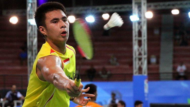 Ikhsan Leonardo Rumbay di babak tiga World Junior Championships 2017. Copyright: © Humas PBSI