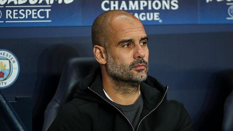 Pep Guardiola, pelatih Man City Copyright: © INDOSPORT