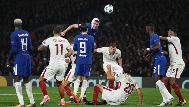 Chelsea vs AS Roma. Copyright: © INDOSPORT