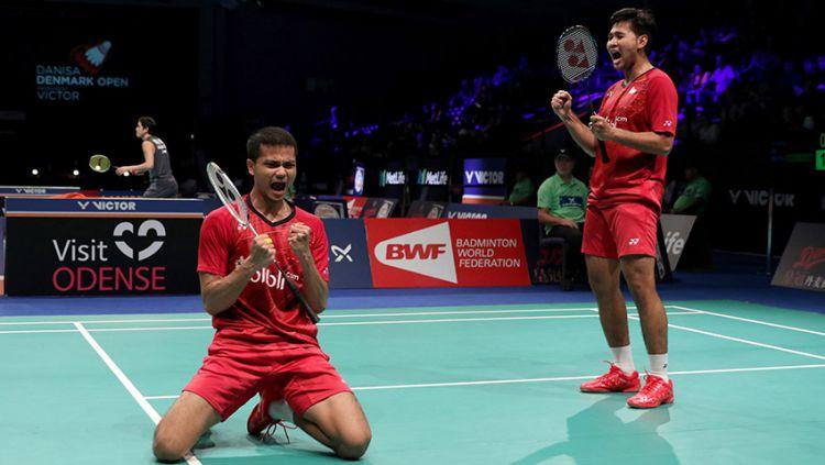 Angga Pratama dan Ricky Karanda Suwardi, Denmark Super Series Premier 2017. Copyright: © Humas PBSI
