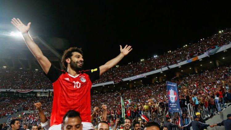 Mohamed Salah menjadi pahlawan Mesir. Copyright: © INDOSPORT