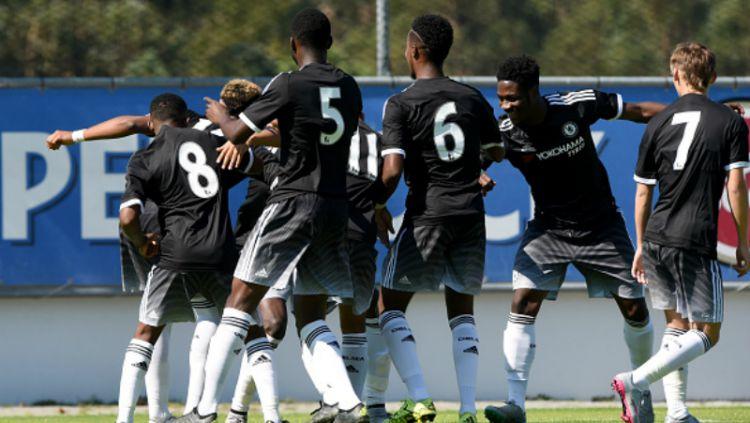 Para pemain dari akademi Chelsea. Copyright: © INDOSPORT