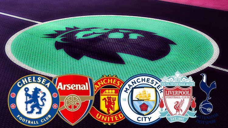 Arsenal, Chelsea, Liverpool, Man City, Man United, dan Tottenham Hotspur merupakan enam klub besar di Liga Primer Inggris. Copyright: © FootTheBall