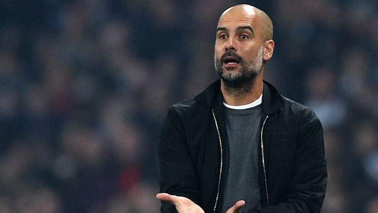 Pelatih Manchester City, Pep Guardiola. Copyright: © INDOSPORT