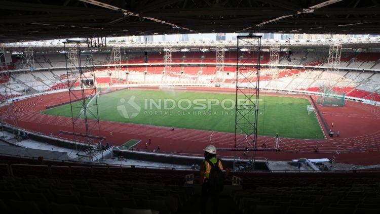 Renovasi SUGBK sudah mencapai 91 persen Copyright: © Indosport/Herry Ibrahim