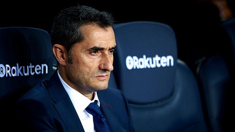 Pelatih Barcelona, Ernesto Valverde. Copyright: © INDOSPORT