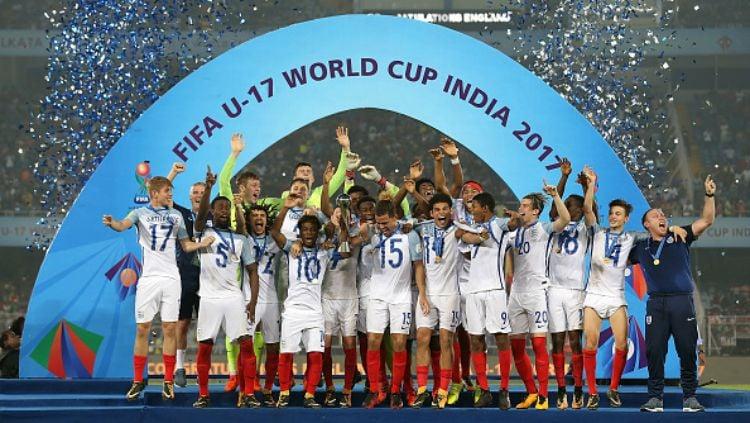 Timnas Inggris sukses jadi kampiun Piala Dunia U-17. Copyright: © INDOSPORT
