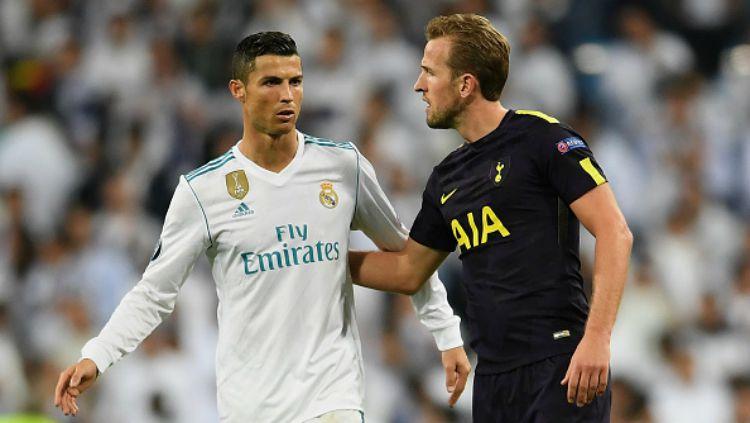 Cristiano Ronaldo dan Harry Kane. Copyright: © INDOSPORT