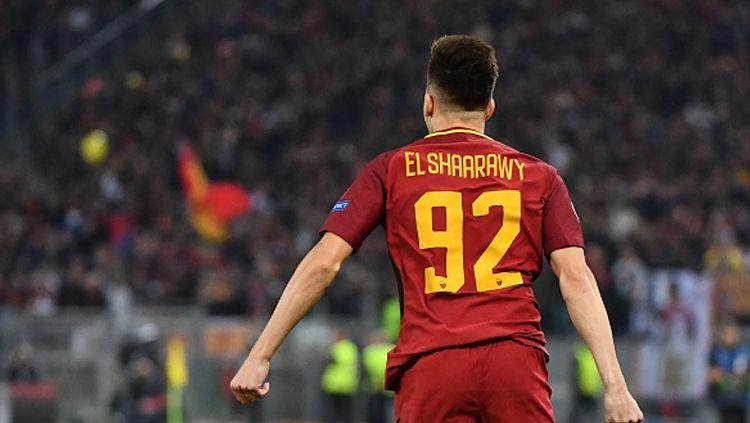 Stephan El Shaarawy saat beraksi untuk klub papan atas Liga Italia, AS Roma. Copyright: © Getty Images