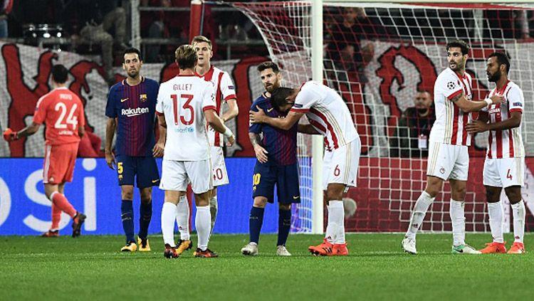 Olympiakos vs Barcelona. Copyright: © INDOSPORT