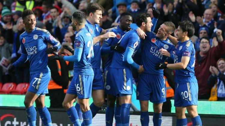 Leicester City. Copyright: © INDOSPORT