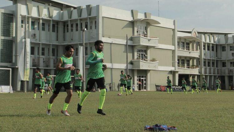 Latihan Persebaya Jelang Babak 8 Besar Liga 2. Copyright: © Media Persebaya