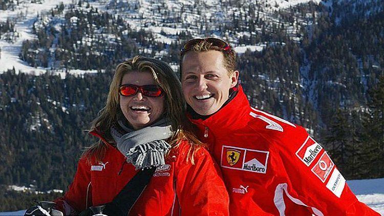 Michale Schumacher dan istrinya, Corinna. Copyright: © Internet