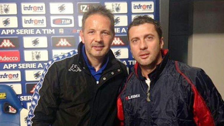 Sinisia MIhajlovic (kiri) dan Miljan Radovic. Copyright: © Instagram@MiljanRadovic