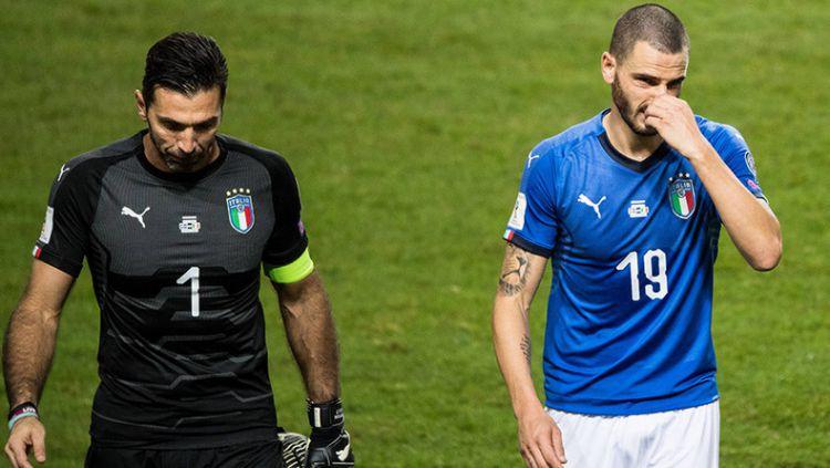 Italia gagal melaju ke Rusia, Buffon meminta maaf. Copyright: © -
